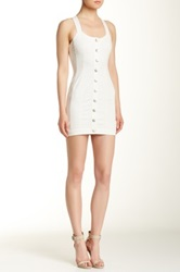 Bcbgeneration Button Front Woven Casual Dress White