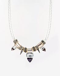 Girls On Film Bronze Tube Cord Necklace