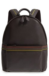Ted Baker London Huntman Stripe Backpack Brown