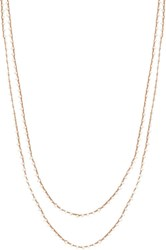 Feathered Soul Women's Seed Pearl Long Necklace Colorless