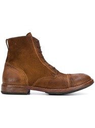 Moma Lace Up Ankle Boots Brown