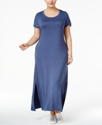 Style And Co Plus Size T Shirt Maxi Dress Only At Macy's New Uniform Blue