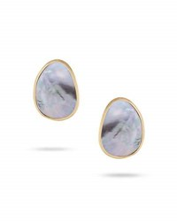 Marco Bicego Lunaria Stud Earrings With Black Mother Of Pearl