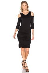 Velvet By Graham And Spencer Antonella Shoulder Cut Out Dress Black
