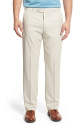Ballin Big And Tall Regular Fit Flat Front Trousers Cream