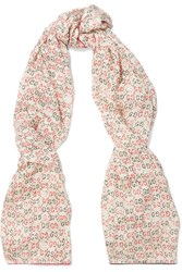 Gucci Printed Silk Scarf Off White