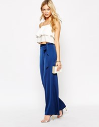 Oasis Wide Leg Trousers Navy