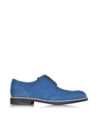 A.Testoni Oltremare Suede Derby Shoe Blue