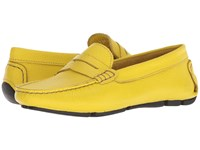 Massimo Matteo Penny Keeper Sol Denver Leather Moccasin Shoes Yellow