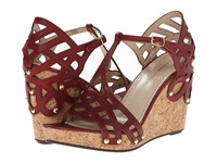 Adrienne Vittadini Cherris Red Vachetta Women's Dress Sandals
