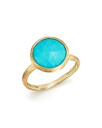 Marco Bicego 18K Yellow Gold Jaipur Ring With Turquoise 100 Bloomgindale's Exclusive Turquoise Gold