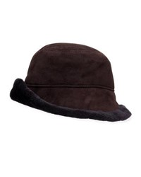 Surell Shearling Cloche Hat Brown