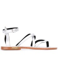 Golden Goose Deluxe Brand Strappy Sandals Women Leather 37 Metallic