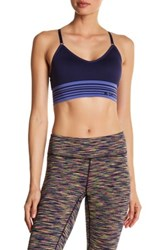 Columbia Long Banded Adjustable Cami Sports Bra Blue
