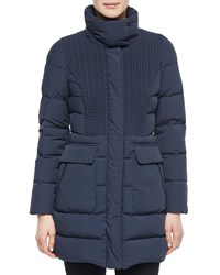 Post Card Deneb Cable Front Car Coat Women's