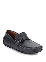 Bacco Bucci Polis Leather Loafers Black