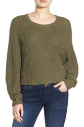 Bp Dolman Sleeve Pullover Sweater Green