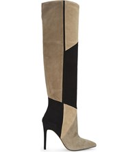 Aldo Cherell Suede Over The Knee Boots Taupe