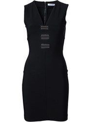 Thierry Mugler Mugler Embellished V Neck Dress Black
