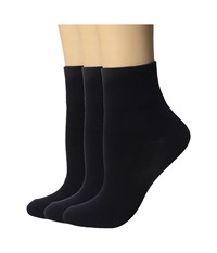 Hue Cotton Body Socks 3 Pack Navy Women's Crew Cut Socks Shoes