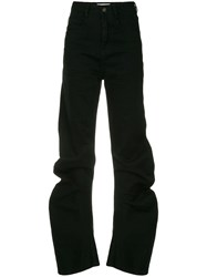 Ground Zero High Waist Tapered Jeans Black