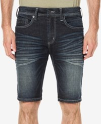 Buffalo David Bitton Men's Parker X Slim Fit Denim Shorts Whiskered And Creased
