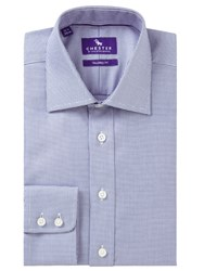 Chester Barrie By Mini Chevron Tailored Fit Shirt Navy