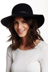 Free Press Round Crown Wool Felt Floppy Hat Black