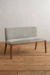 Anthropologie Velvet Emrys Bench Light Grey