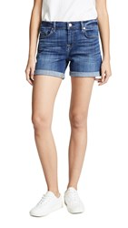 7 For All Mankind Relaxed Mid Roll Shorts Broken Twill Vanity