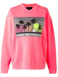 Alexander Wang Mind Detergent Patch Sweatshirt Pink Purple
