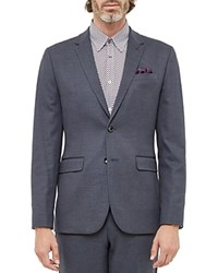 Ted Baker Cabrini Mini Design Regular Fit Sport Coat Blue