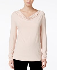 Bar Iii Cowl Neck Top Only At Macy's Ballet Pink