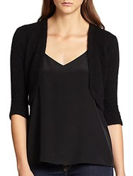 Harrison Morgan Angora Blend Knit Bolero Jacket Black