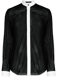 Unconditional Micro Collar Shirt Black