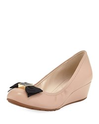 Cole Haan Tali Grand Soft Bow Wedge Pumps Nude