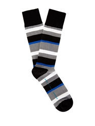 Marc By Marc Jacobs Striped Cotton Blend Socks