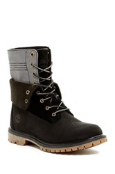 Timberland Authentic Canvas Double Fold Boot Black