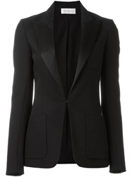 Faith Connexion Peaked Lapel Blazer Black