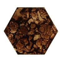 Notre Monde Tortoise Organic Mini Glass Tray Brown