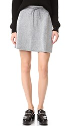 M Missoni Metallic Knit Skirt Silver