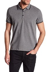 Kenneth Cole Contrast Trim Polo Gray