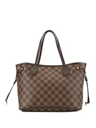 Louis Vuitton Vintage Neverfull Pm Tote Brown