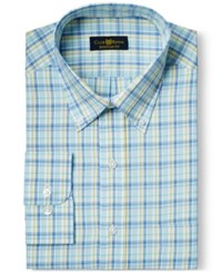 Club Room Estate Wrinkle Resistant Cape Cod Blue Check Dress Shirt Only At Macy's