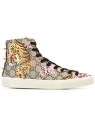 Gucci Hi Top Sneakers Brown