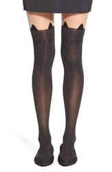 Junior Women's Capelli Of New York 'Cat Face' Over The Knee Stockings