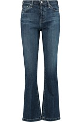 Ag Jeans Alexa Chung Revolution High Rise Flared Jeans Blue