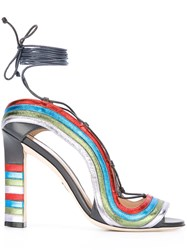 Paula Cademartori 'Crazy Stripes' Sandals Multicolour