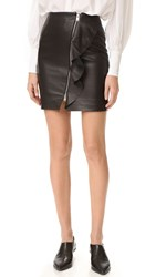 Iro Tia Leather Skirt Black