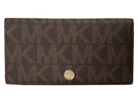 Michael Michael Kors Jet Set Travel Lg Slim Wallet Brown Luggage Bi Fold Wallet